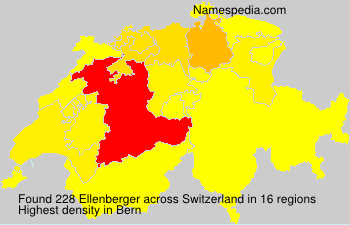 Surname Ellenberger in Switzerland