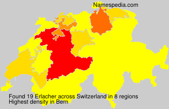 Surname Erlacher in Switzerland