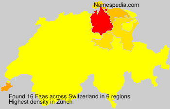 Surname Faas in Switzerland