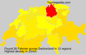 Surname Fahrner in Switzerland
