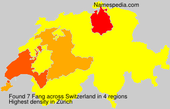 Surname Fang in Switzerland
