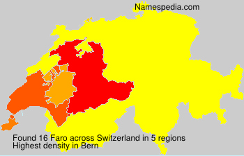 Surname Faro in Switzerland