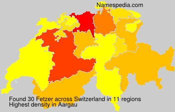 Surname Fetzer in Switzerland