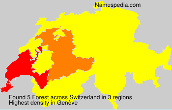 Surname Forest in Switzerland