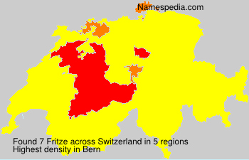 Surname Fritze in Switzerland