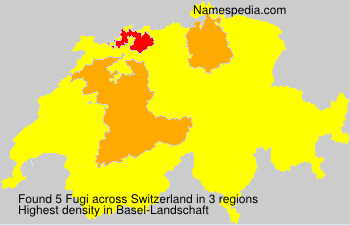 Surname Fugi in Switzerland
