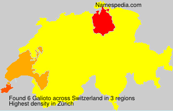 Surname Galioto in Switzerland