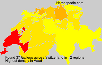 Surname Gallego in Switzerland