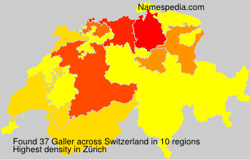 Surname Galler in Switzerland