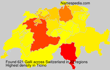 Surname Galli in Switzerland