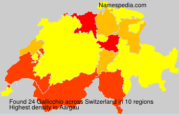 Surname Gallicchio in Switzerland