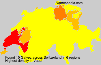 Surname Galvez in Switzerland