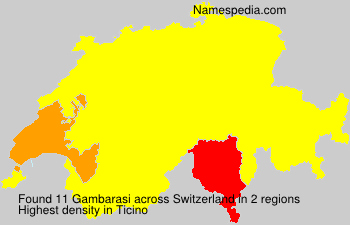 Surname Gambarasi in Switzerland