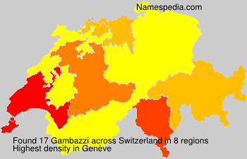 Surname Gambazzi in Switzerland