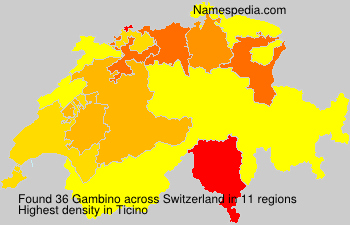Surname Gambino in Switzerland