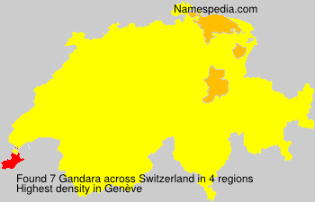 Surname Gandara in Switzerland