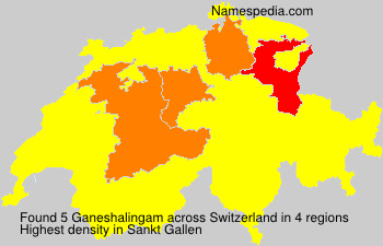 Surname Ganeshalingam in Switzerland