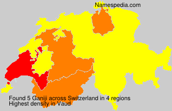 Surname Ganiji in Switzerland