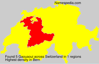 Surname Gaouaoui in Switzerland