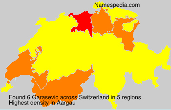 Surname Garasevic in Switzerland
