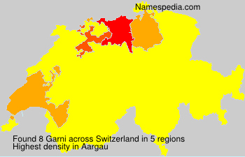Surname Garni in Switzerland