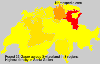Surname Gauer in Switzerland