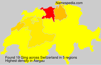 Surname Ging in Switzerland