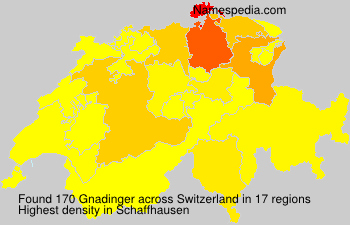 Surname Gnadinger in Switzerland