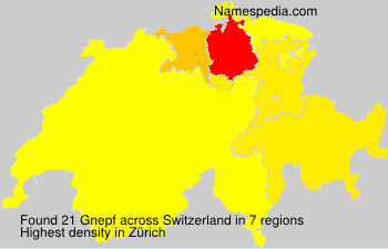 Surname Gnepf in Switzerland