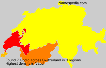 Surname Godio in Switzerland
