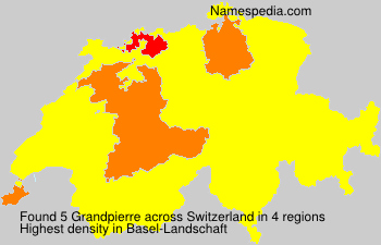 Surname Grandpierre in Switzerland