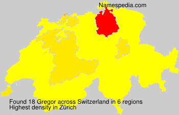 Surname Gregor in Switzerland