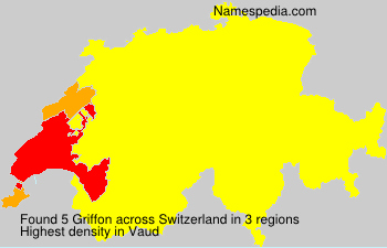 Surname Griffon in Switzerland