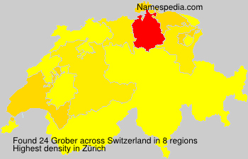 Surname Grober in Switzerland