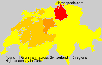 Surname Grohmann in Switzerland