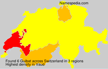 Surname Guibat in Switzerland