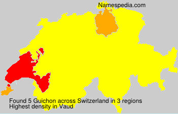 Surname Guichon in Switzerland