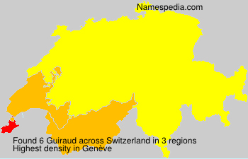 Surname Guiraud in Switzerland