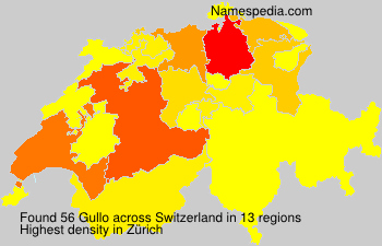 Surname Gullo in Switzerland