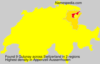 Surname Gulunay in Switzerland