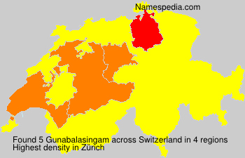 Surname Gunabalasingam in Switzerland
