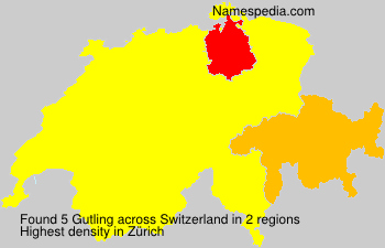 Surname Gutling in Switzerland