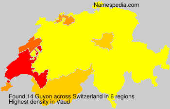 Surname Guyon in Switzerland