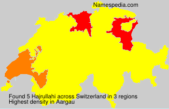 Surname Hajrullahi in Switzerland