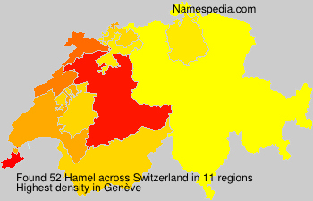 Surname Hamel in Switzerland