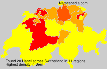 Surname Hanel in Switzerland
