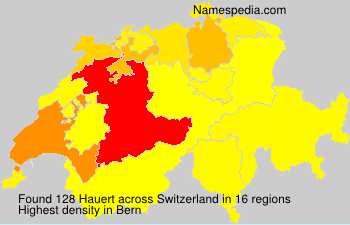 Surname Hauert in Switzerland