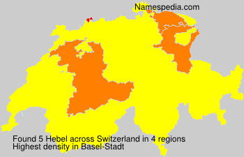 Surname Hebel in Switzerland