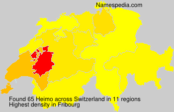 Surname Heimo in Switzerland