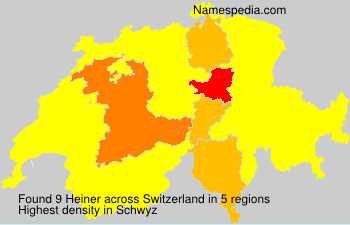 Surname Heiner in Switzerland